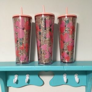 FIRM NEW STARBUCKS 2020 Valentines Glitter Tumbler